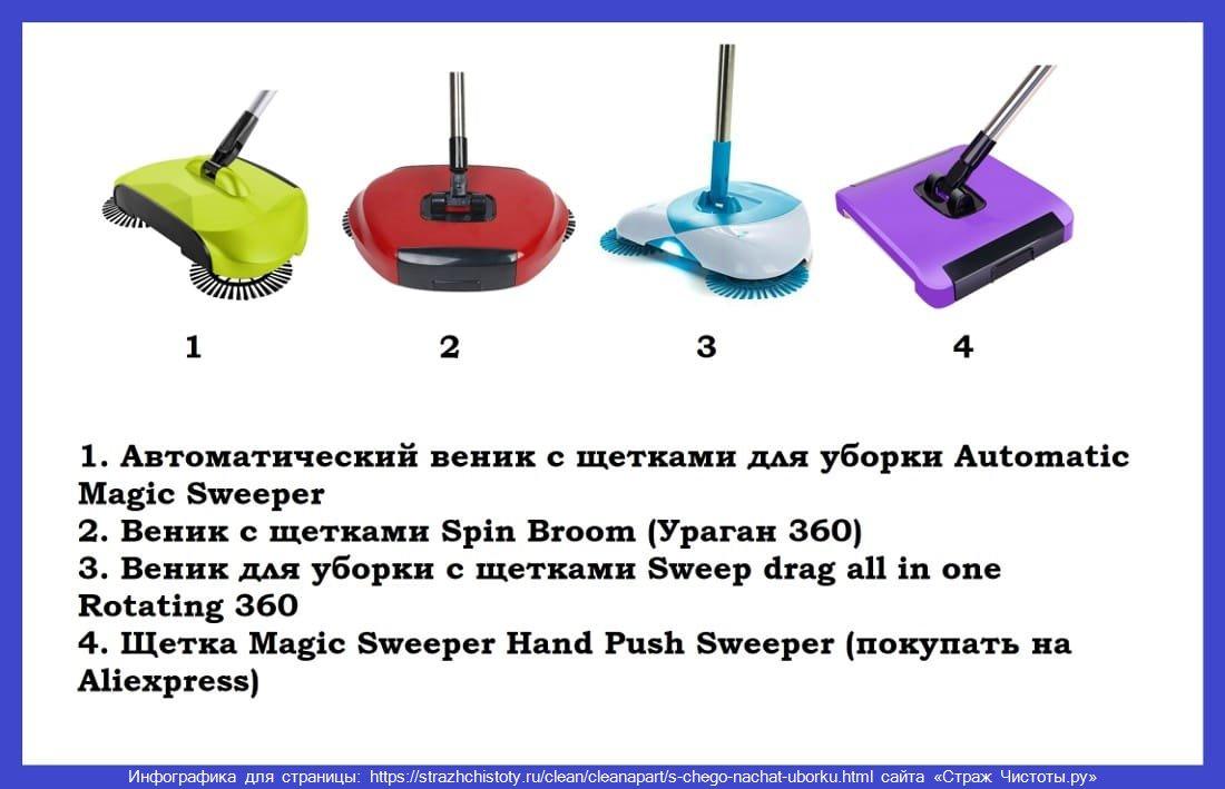 Автоматический веник для уборки с щетками отзывы