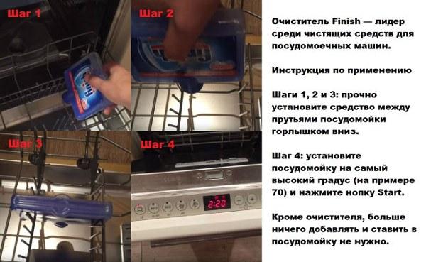 Чистящее средство для посудомоечных машин
