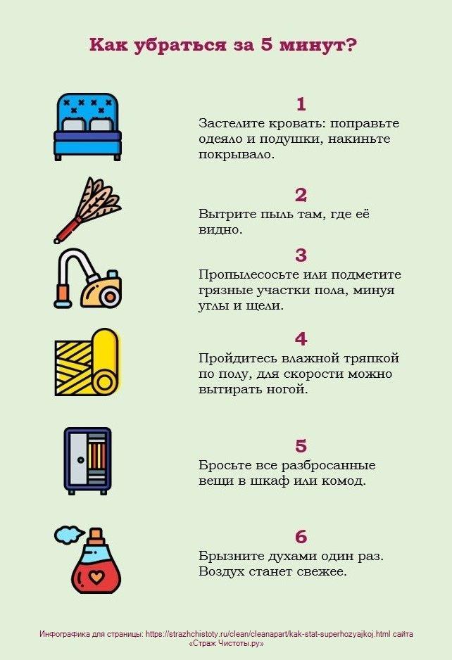 Как сделать уборку за 5 минут