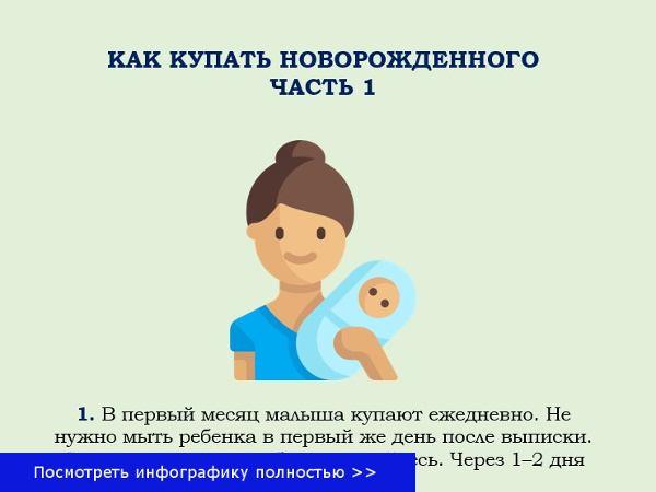 Как мыть младенца