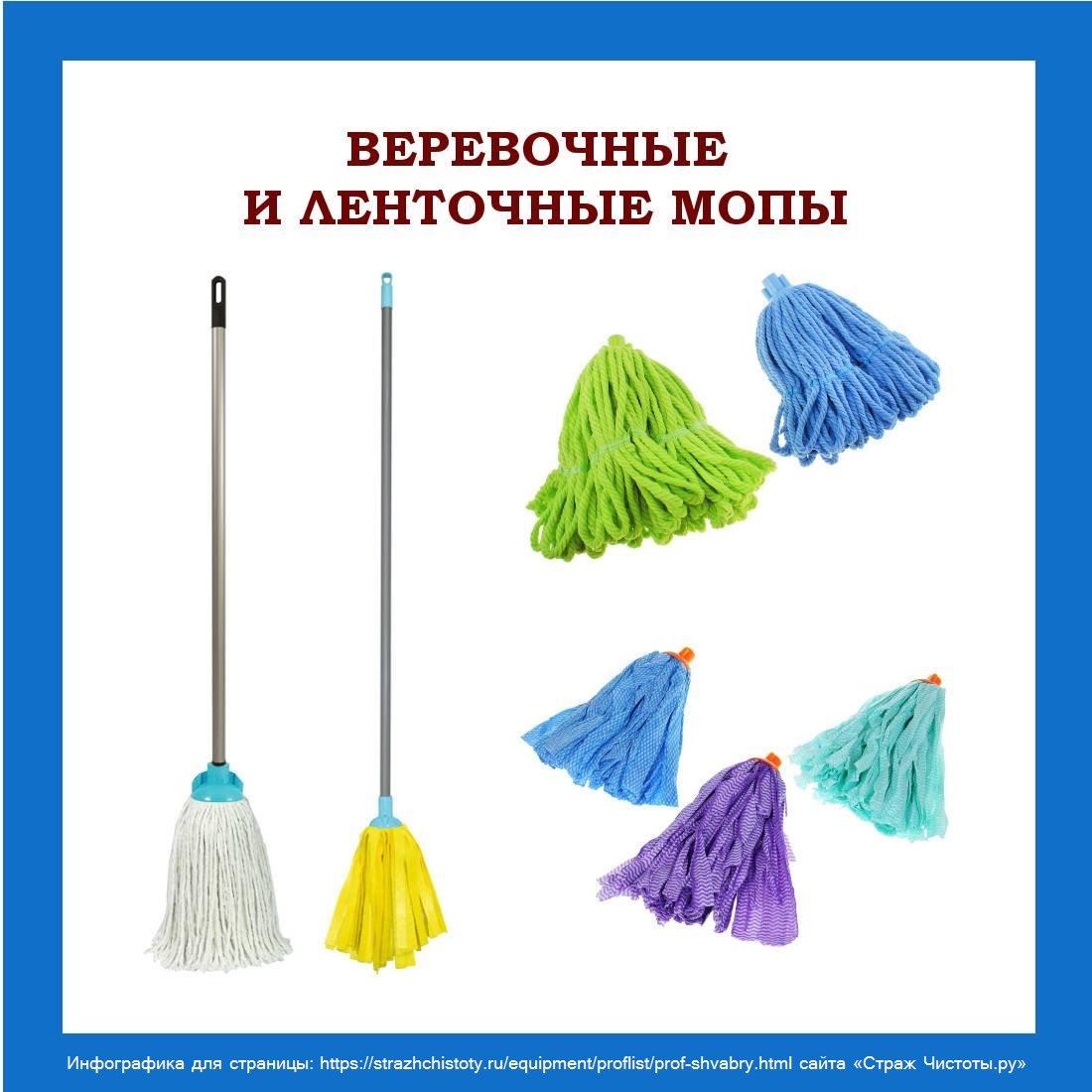 Профессиональные швабры для уборки помещений