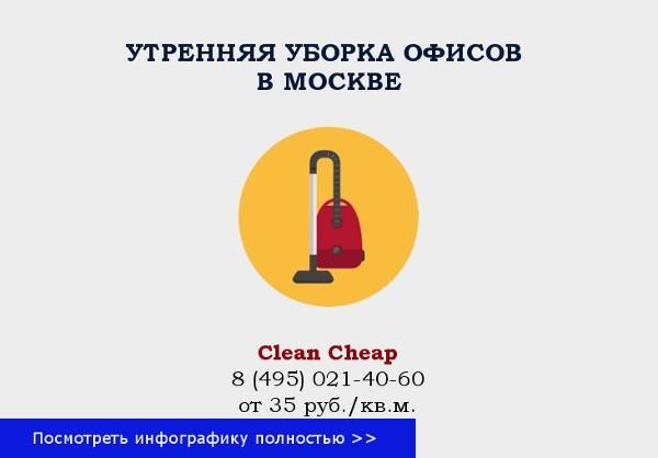 уборка утренняя офисов в москве