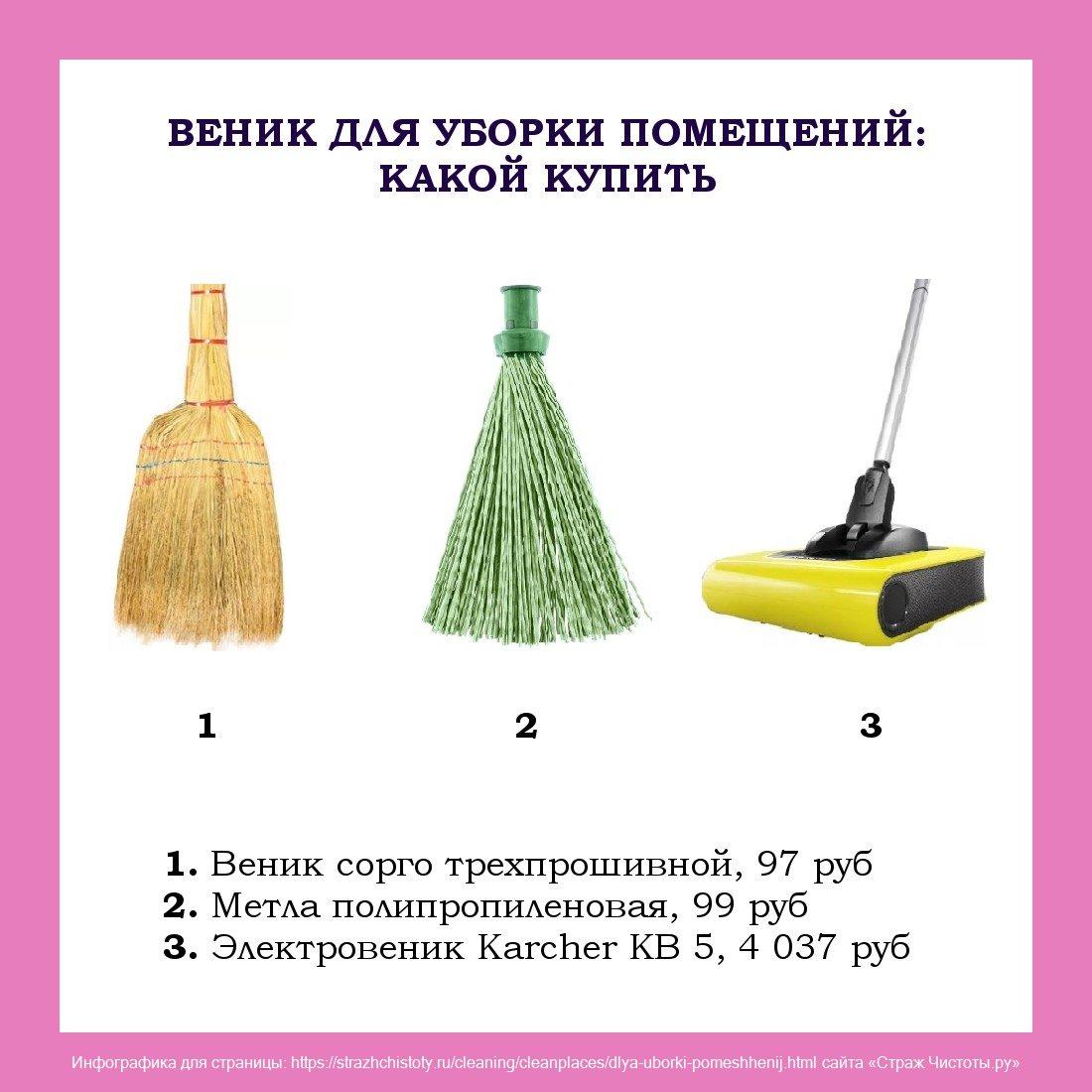 веник для уборки помещений